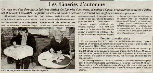 flaneries d`automne pont 1998